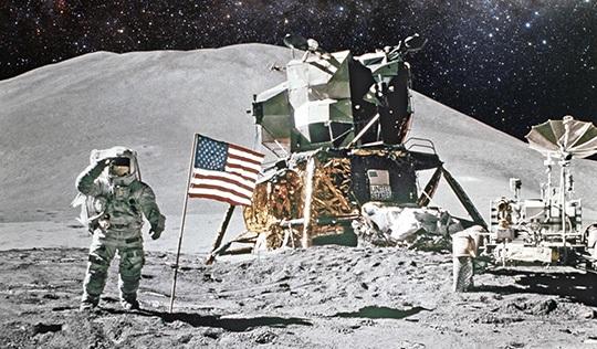 man on the moon apollo armstrong alignment